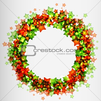 Frame with green and red stars