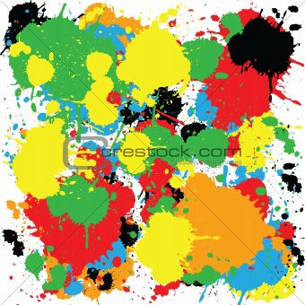 Abstract colorful background with ink spots