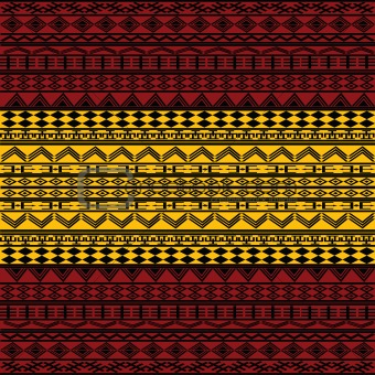 Abstract ethnic motives in red and yellow