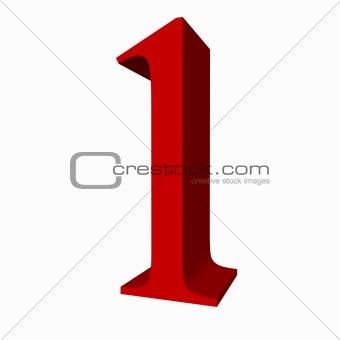 3D digit : 1 (one)