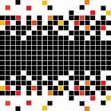 Abstract pattern with black mosaic