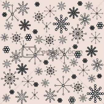 Background with abstract floral design elements