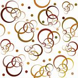 Background with brown circles