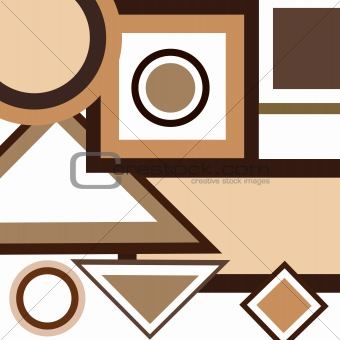 Background with brown geometrical shapes