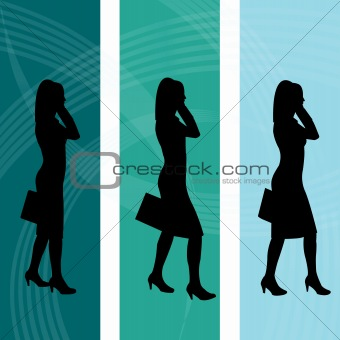 Background with Business Women