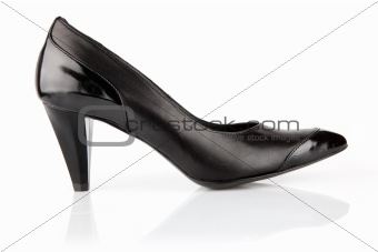 single black womanish shoes isolated