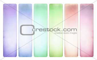 Candy color textured banner set pale