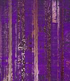 Grunge purple wood scroll print
