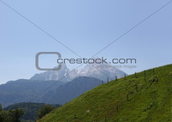 Mt. Watzmann in the Berchtesgaden Alps, Germany (panoramic)