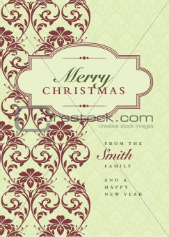 Vector Christmas Frame and Pattern