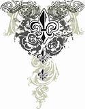 tribal fleur de lis emblem