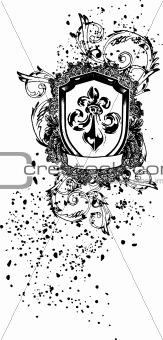 classic scroll emblem