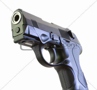 Business end of a handgun