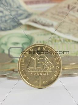 Greek coin drachma