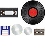 old media for recording
