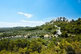 Chateau Des Baux Surrounding Fields Provence