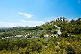 Chateau Des Baux Surrounding Fields Provence