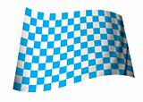 blue checkered flag