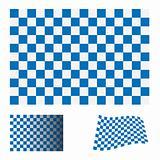 checkered blue flag