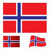 Norway flag set