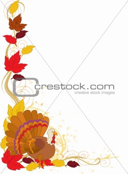 Autumn Turkey Border