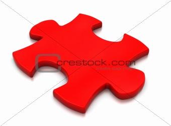 single puzzle block