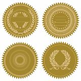 Vector Award Seal Set