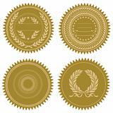 Vector Award Seal Set