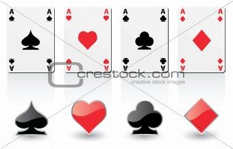 play card symbols