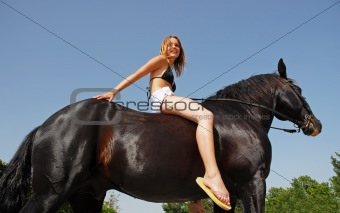 riding girl