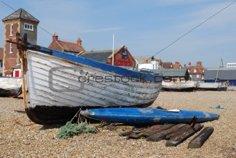 Fishing boat and kayack