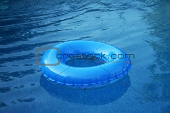 Blue Inflatable Wheel