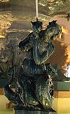 Mermaid  Statue at Rossio Square in Lisbon, Portugal