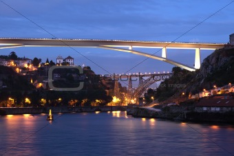Bridges over the Douro river at Porto, Portugal