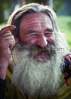 laughing old man