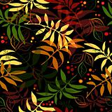 Seamless autumn floral pattern