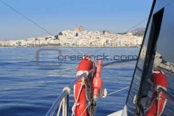 Altea Alicante province Spain from sea boat