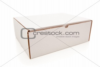 Blank White Carboard Box Isolated on a White Background.