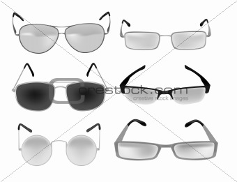 eyeglasses vector illustration