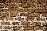 scrubbed brick wall