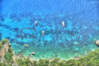 Painted Yachts from Above