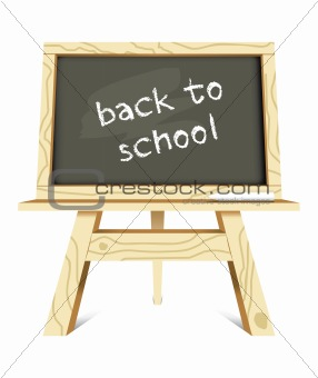 blackboard with back to school message