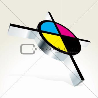 3D CMYK target