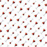 Wall-paper from wine glasses. Vector illustration
