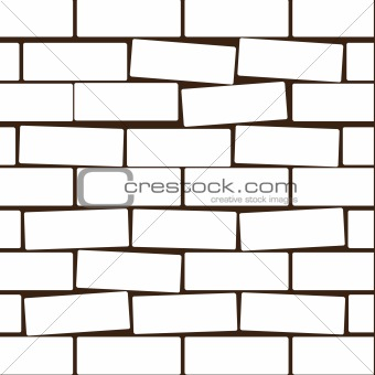 Background from a white brick. Vector illustration