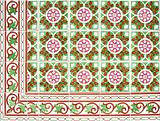 Ornamental old tiles