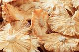Dried sliced pineapple. Ecological food