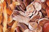 Dried various fruits. Ecological food