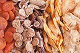 Closeup of dried fruits