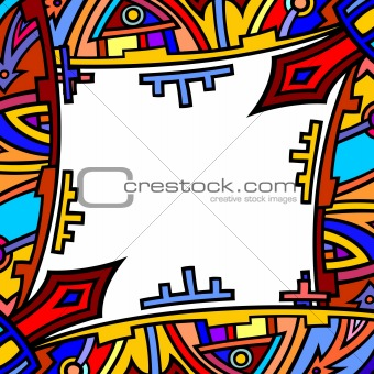 abstract ethnic background